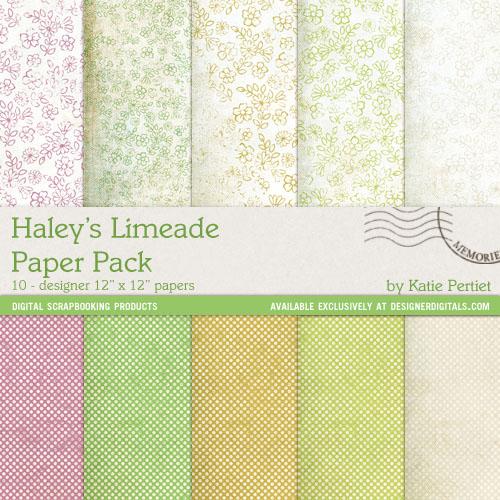 Digi Paper Haley's Limeade