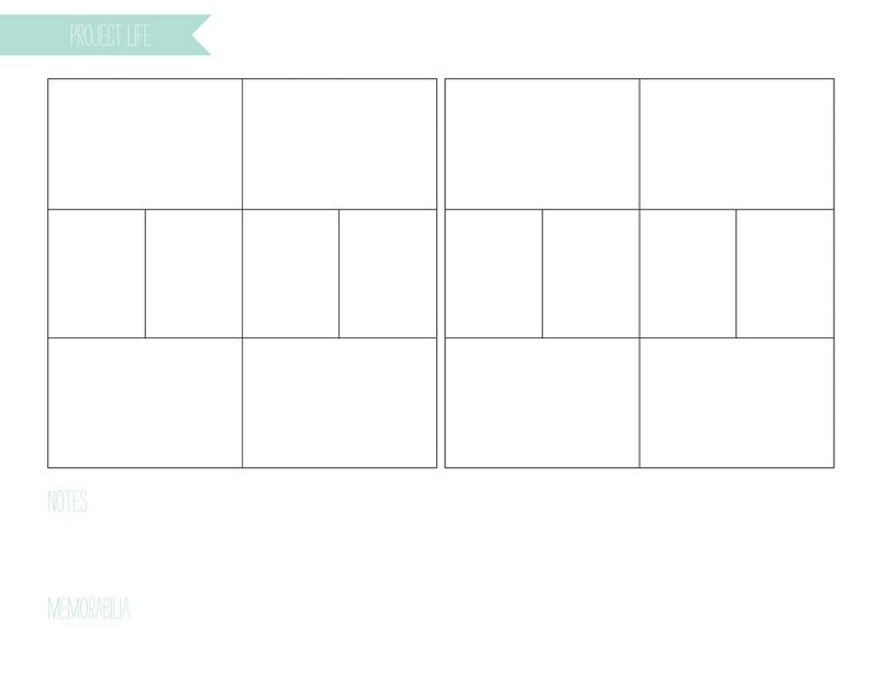 Project life planner page design A